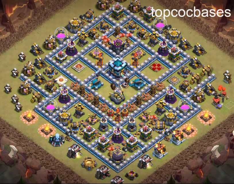 Top Town Hall 13 (Th13) War Bases 2020