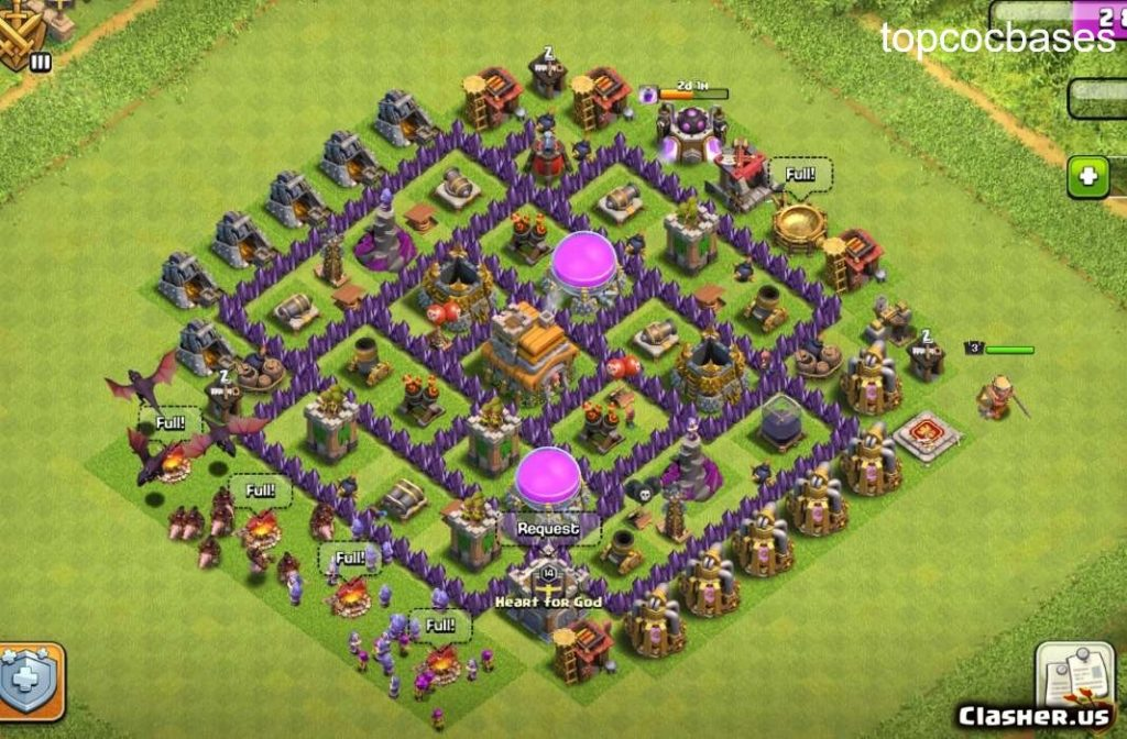 Top 10 Town Hall 7 Th7 Farming Bases 2020 Top Coc Bases