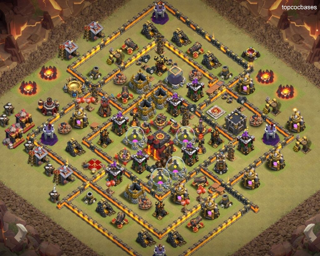 Top 15+ Town Hall 10 (Th10) War Bases 2020 - Top COC Bases